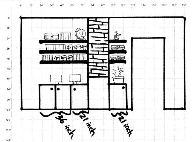 chimney wall layout