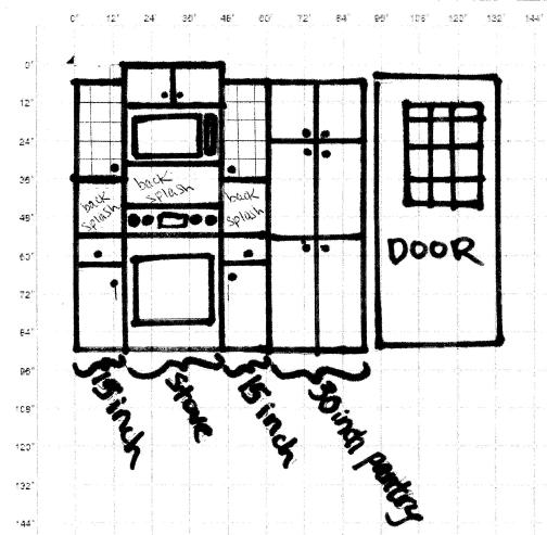 oven wall layout
